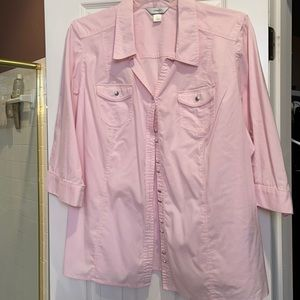 3x CJ Banks button front shirt with pockets